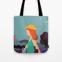 into the wild Tote Bags featuring Wild by Riccardo Fred Cusimano
