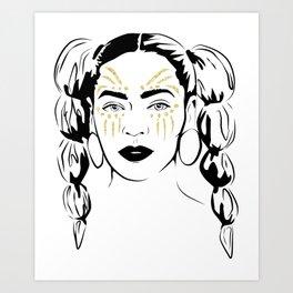 Queen B Tribe Art Print