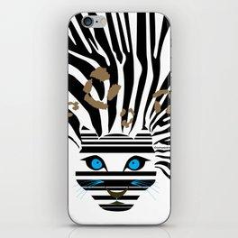 Leopard Zebra crossover iPhone Skin