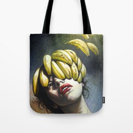 Portrait - Bananas From Up Above Tote Bag