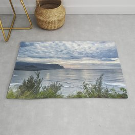 Hanalei Bay Sunset Rug