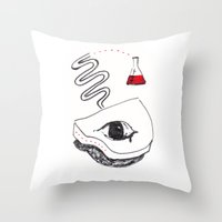 chemistry Throw Pillows featuring Piano Chemistry by Marcus Bichel Lindegaard