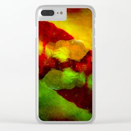 Abstract Terror Clear iPhone Case
