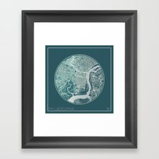 Philadelphia Map Planet Framed Art Print