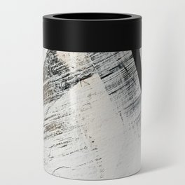 Armor [9]: a minimal abstract piece in black white and gold by Alyssa Hamilton Art Can Cooler