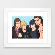 Final Fantasy XV - Best Friends!  Framed Art Print
