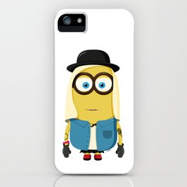 Hipster Girl Minion iPhone Case