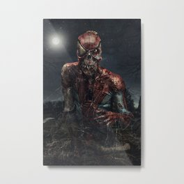 Spider-Man Zombie Metal Print