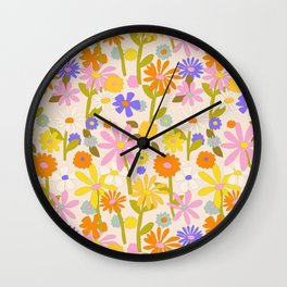 Flower Power Light Wall Clock