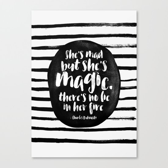 She's mad but she's magic Canvas Print
