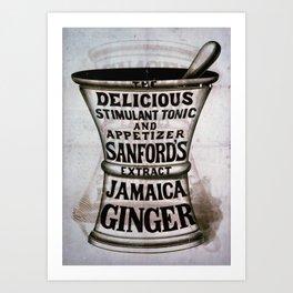 Ginger Jamaica Art Print