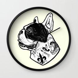 French Bulldog Tattooed Dog Wall Clock