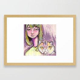 Cat-ittude Framed Art Print
