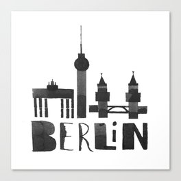 Berlin (Calligraphy Art) Canvas Print
