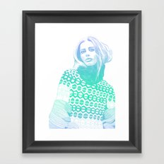 Winter Blue Framed Art Print