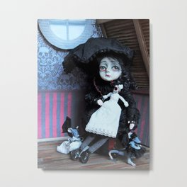 Vanessa the little vampire girl Metal Print