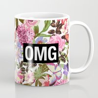 2pac Mugs featuring OMG by Text Guy