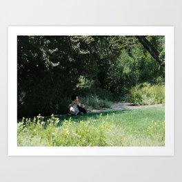 WOMAN RELAXING Art Print