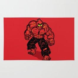 Angry Bird hulk Red Rug
