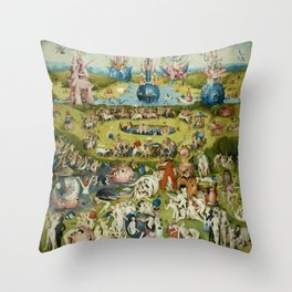 Hieronymus Bosch The Garden Of Earthly Delights Throw Pillow
