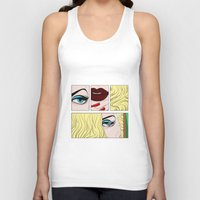 make up Tank Tops featuring make up by snsemstlcp