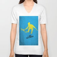 skateboard V-neck T-shirts featuring skateboard  by Easyposters