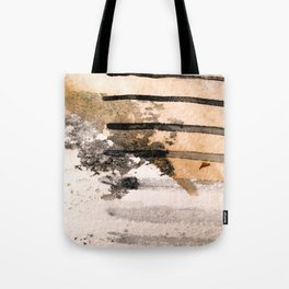 Desert Musings - a watercolor and ink abstract in gray, brown, and black Tote Bag