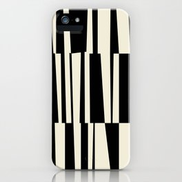 BW Oddities III - Black and White Mid Century Modern Geometric Abstract iPhone Case