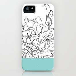 VESSEL - Floral Ink in Mint Green - Cooper and Colleen iPhone Case