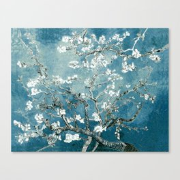Vincent Van Gogh Almond Blossoms Teal Canvas Print