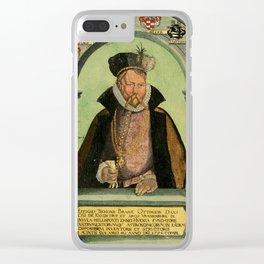Epistolarvm Astronomicarvm Libri, 1596 - Portrait of Tycho Brahe Clear iPhone Case
