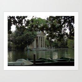 Tempio di Esculapio Art Print