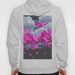 PINK ORCHID FLOWERS CLOUDS & RAIN Hoody