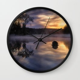 Early One Morning at the Pond Wall Clock