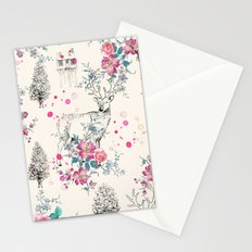 Deer pattern Stationery Cards