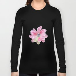 Shocking Pink Flora Gems Long Sleeve T-shirt