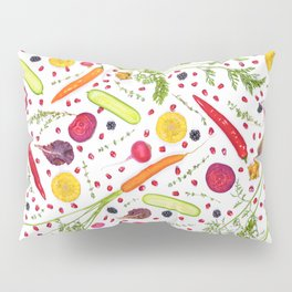 Fruits and vegetables pattern (21) Pillow Sham