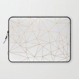 Geometric Gold Minimalist Design Laptop Sleeve