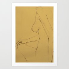 The Thin Woman Art Print