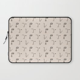 Abstract One Line Faces Laptop Sleeve