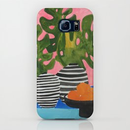 Pink Wall Monstera iPhone Case