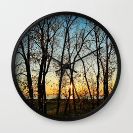 Spring in Muskegon Wall Clock