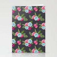 flower pattern Stationery Cards featuring Flower Pattern by eARTh