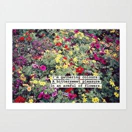Gathering Colours Art Print