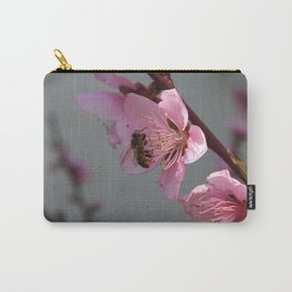 Honey Bee On Open Peach Tree Blossom Carry-All Pouch