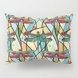 Dragonflies on Stained Glass Pillow Sham