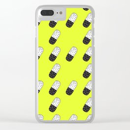 Take a neon pill Clear iPhone Case
