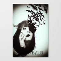 bats Canvas Prints featuring Bats by Nuria Mrtz. FotoArt
