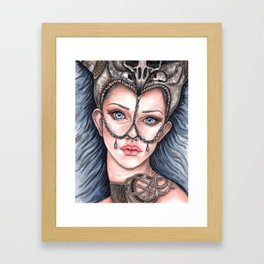 Viking Warrior Princess Fantasy Art Skull Crown Laurie Leigh Framed Art Print