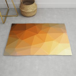 Shades Of Orange Triangle Abstract Rug